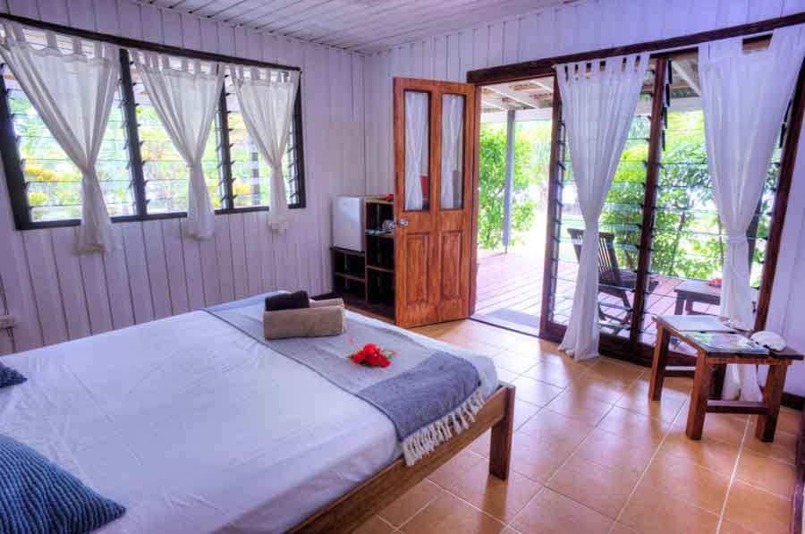 The sea view budget double room at Turtle Bay Lodge, Santo, Vanuatu.