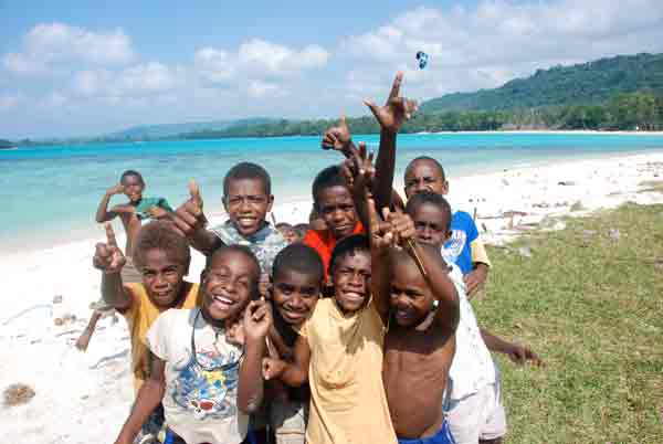 local boys at Port Olry Beach, Santo, Vanuatu