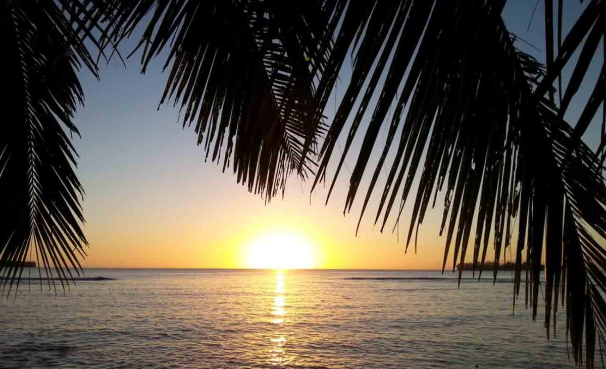 sunrise from Turtle Bay Lodge, Santo , Vanuatu