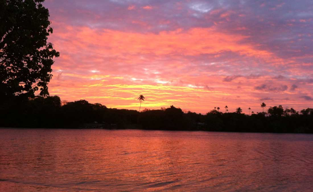 sunrise at Turtle Bay Lodge